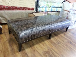 Recovered Ottoman in Animal Print