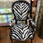 Front of Zebra Fabric Chair