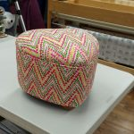Pink and Green Zigzag Fabric