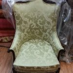 Reupholstered in Green Jacquard